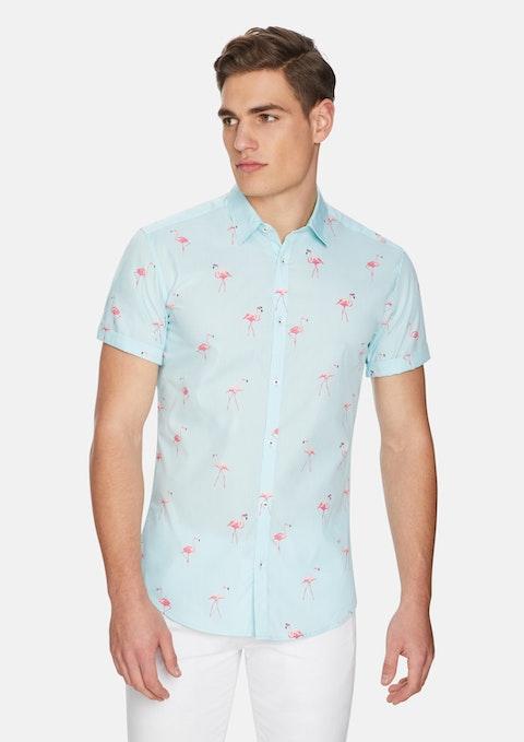 Mint Frankie Flamingo Shirt