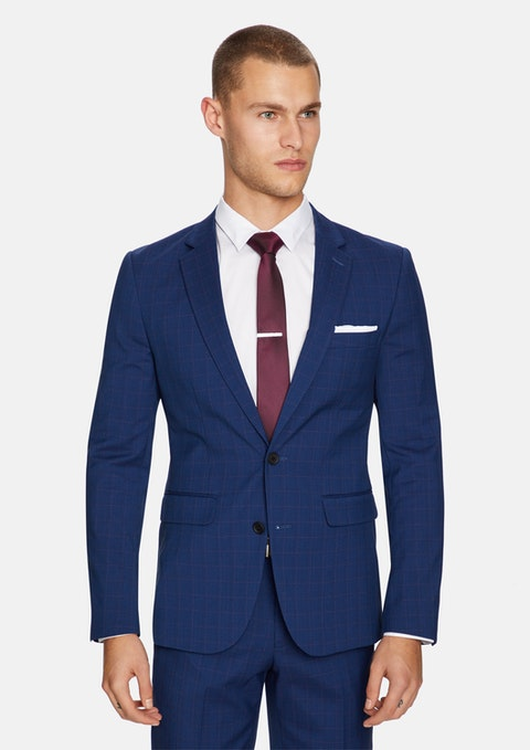 Dark Blue Davis Slim Fit Suit Jacket