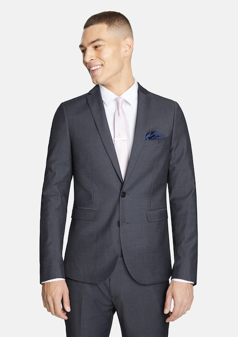 Charcoal Alex Skinny Suit Jacket