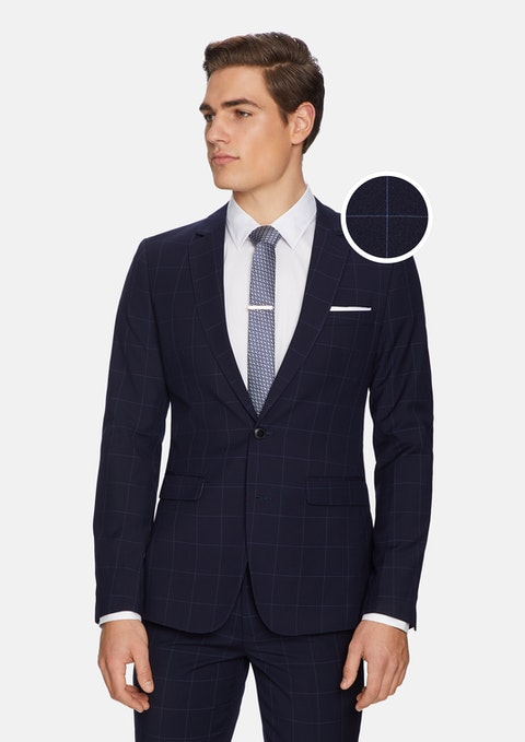 Navy Ricardo Skinny Suit Jacket