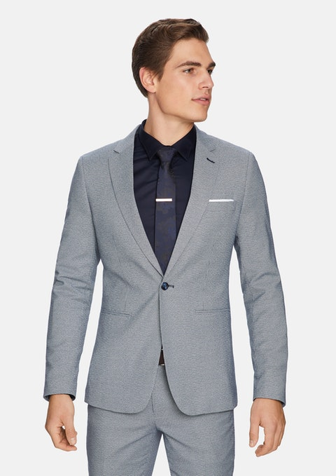 Navy Julian Skinny Suit Jacket