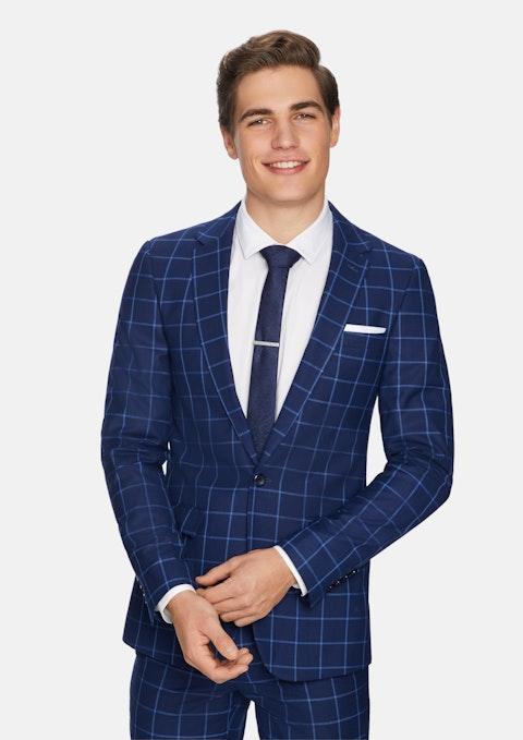 Blue Maxi Skinny Suit Jacket