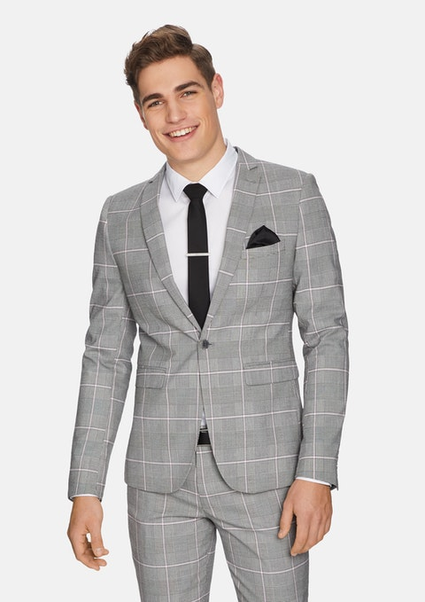 Grey Capone Skinny Suit Jacket