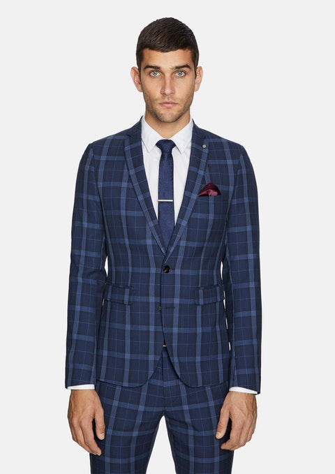 Blue Taylor Skinny Suit Jacket
