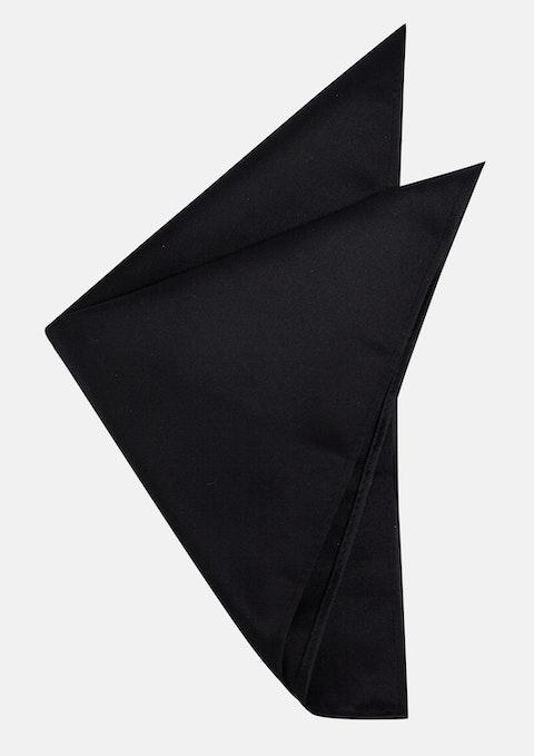 Black Plain Pocket Square