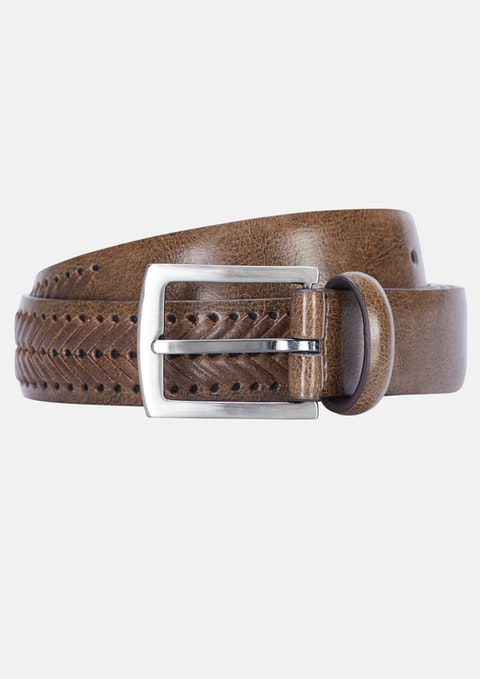 Natural Archie Woven Belt