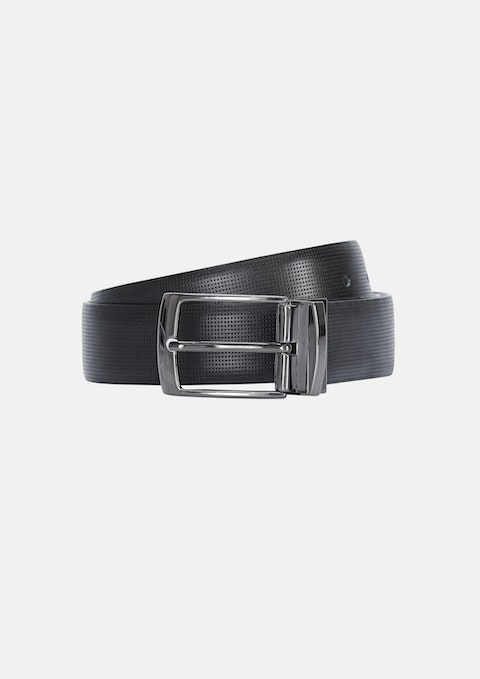 Black/chocoalte Emboss Reversible Belt