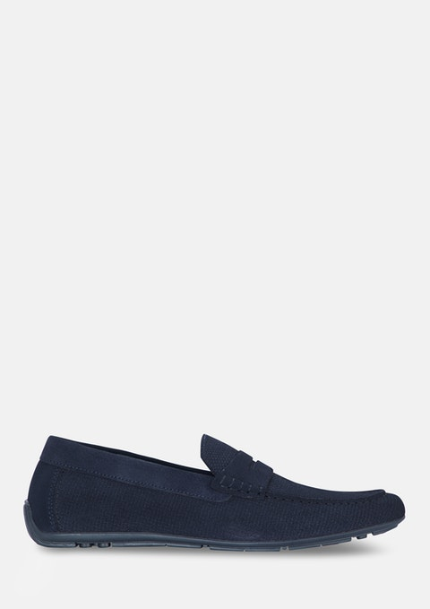 Dark Blue Maxwell Driving Shoe