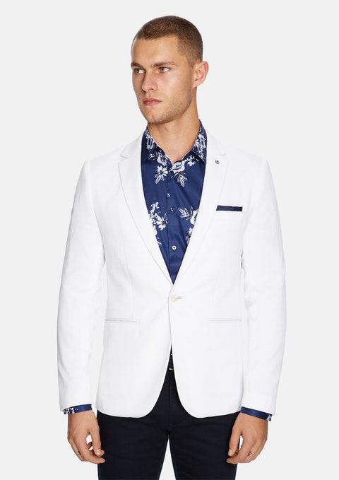 White Bianco Stretch Blazer