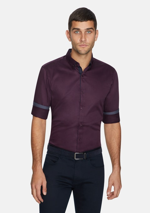 Burgundy Varadero Slim Shirt