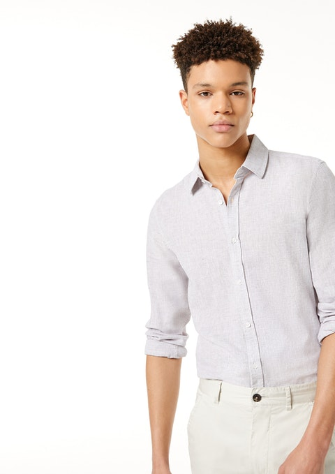 Natural Lennox Linen Blend Shirt