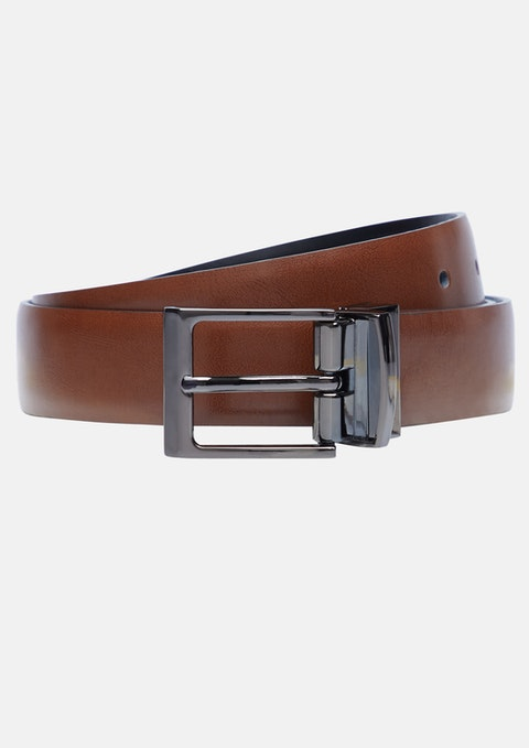 Tan Brown Zoomer Reversible Belt