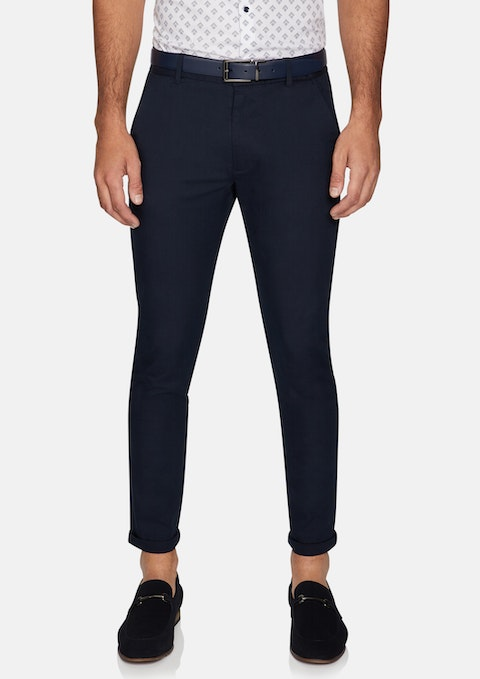 Navy Skyer Stretch Skinny Chinos