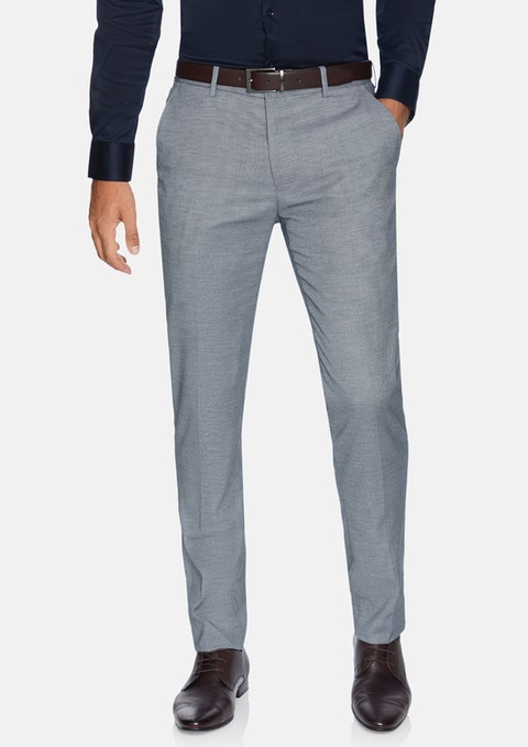 Steel Blue Vincent Skinny Textured Dress Pant