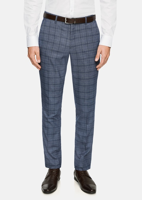 Blue Lotus Slim Check Dress Pant