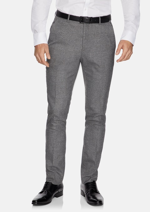 Pewter Cadillac Skinny Textured Dress Pant