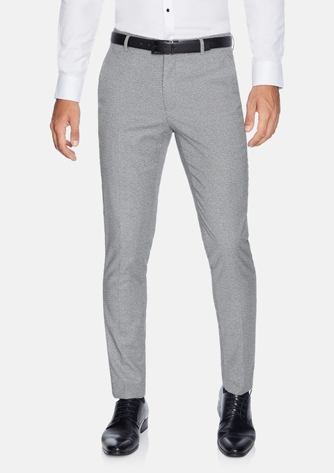 Black Beretta  Skinny Textured  Dress Pant