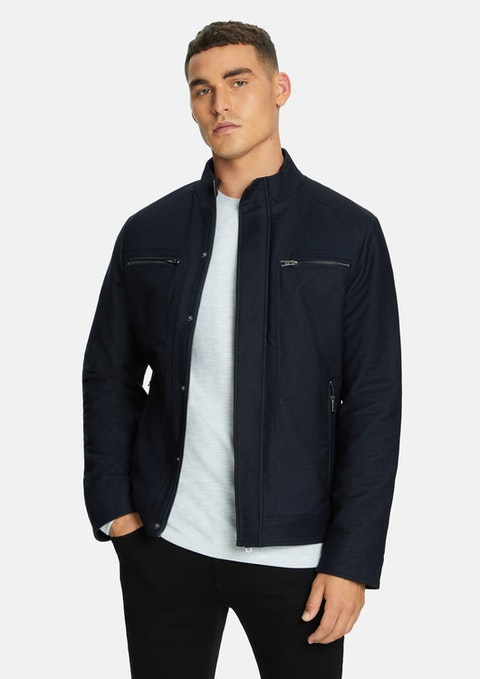 Navy Colt Racer  Jacket