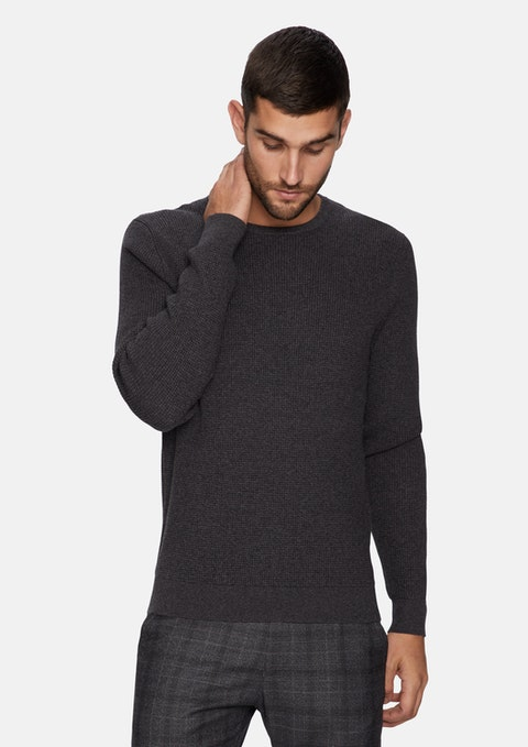 Charcoal Beamer Knit