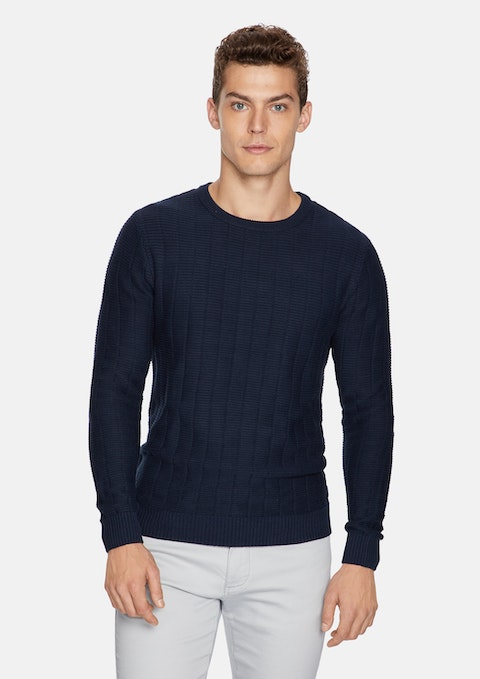 Navy North Knit