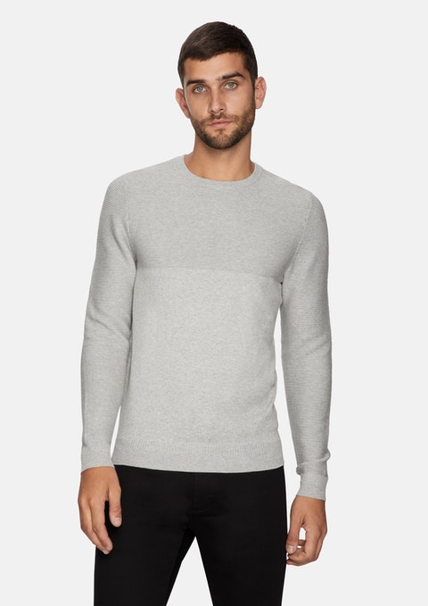Ice Grey Tempus Knit Jumper