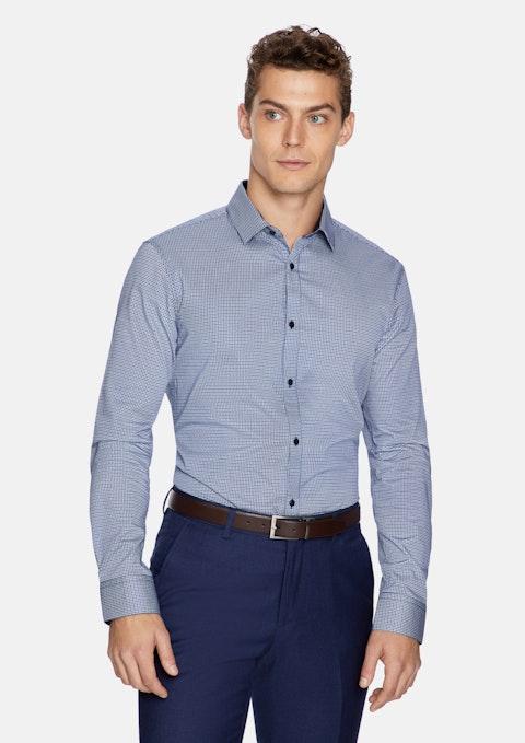 Navy Justice Slim Dress Shirt