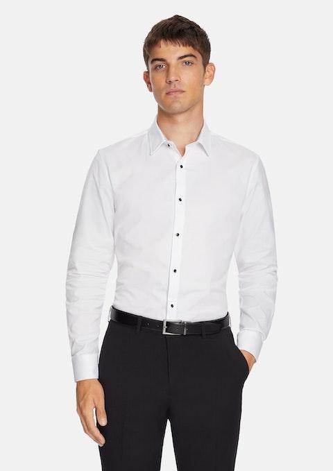 White Seville Slim Dress Shirt