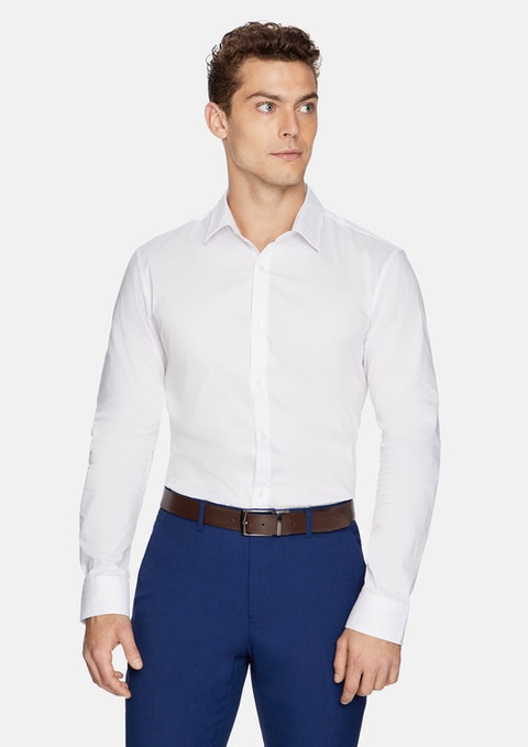 White Largo Slim Fit Dress Shirt
