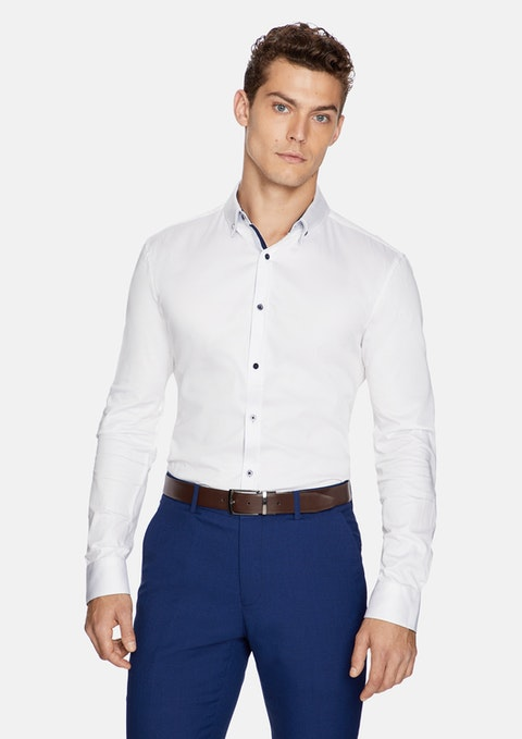 White Marcus Muscle Fit Shirt