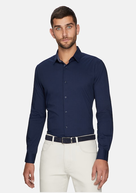 Dark Blue Cason Slim Shirt