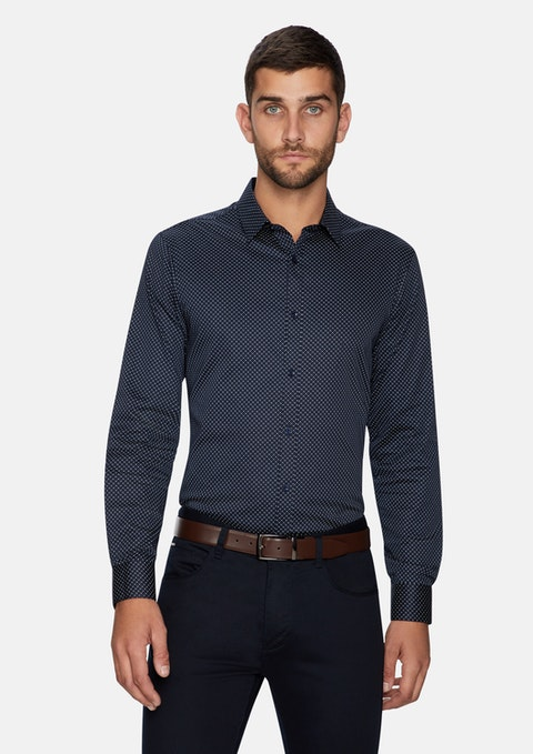 Dark Blue Reading Geo Shirt