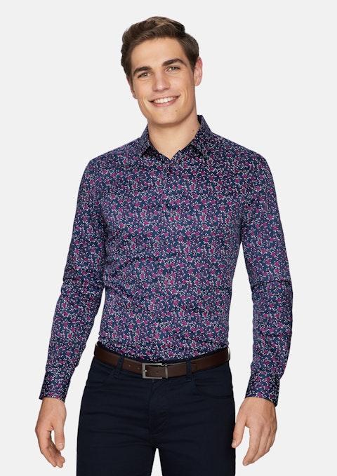 Burgundy Charlton Floral Shirt