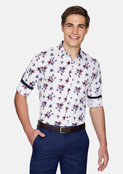 Multi Brend Floral Slim Shirt