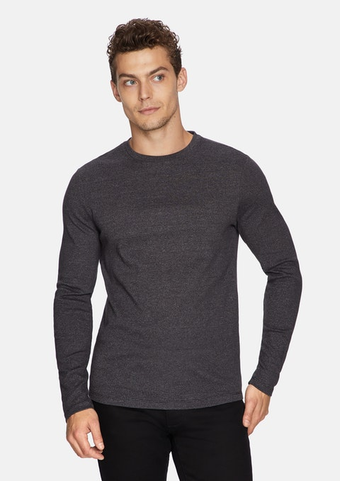 Charcoal Arnold Muscle Fit Jumper