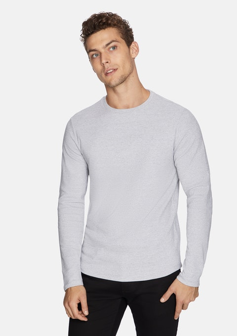 Grey Arnold Muscle Fit Jumper