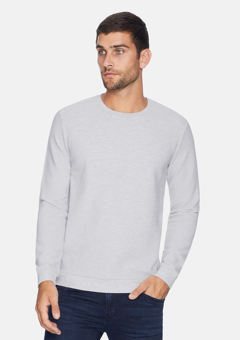 Grey Grand Textured Jumper