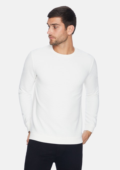 White Grand Textured Jumper