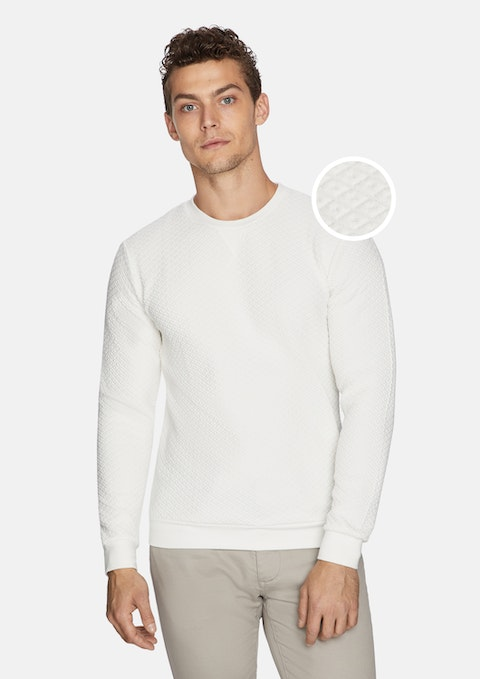 White Torino Textured Jumper