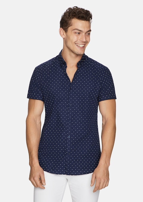 Navy Archer Print Shirt