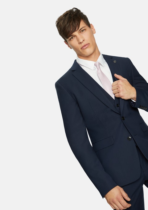 Navy Sinatra Skinny Suit Jacket