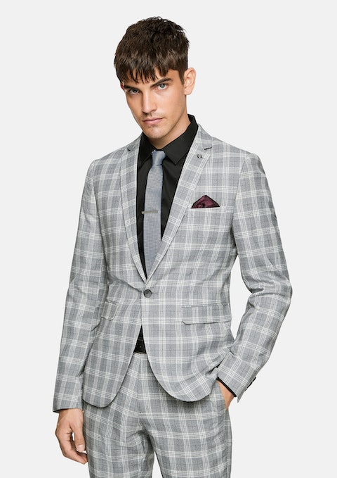 Quicksilver Hollywood Skinny Check Suit Jacket