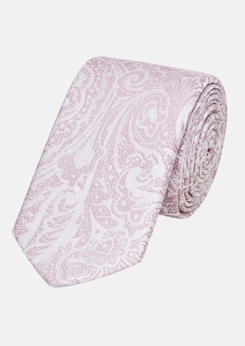 Pink Williams Paisley 6.5cm Tie