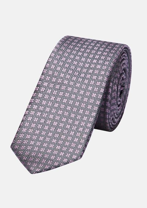 Grey/pink Eli 5cm Tie