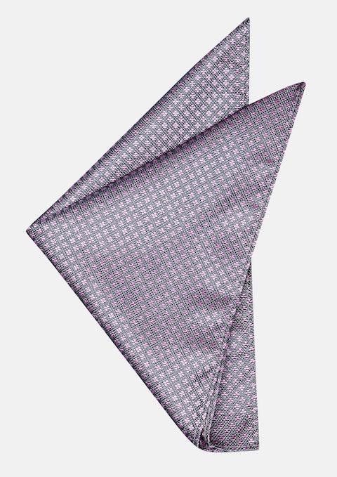Grey/pink Eli Pocket Square