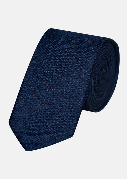 Dark Blue Terrace Texture 6.5cm Tie