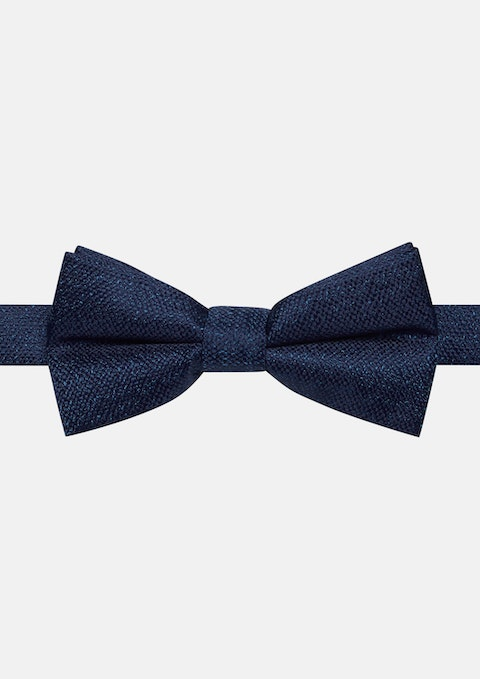 Dark Blue Terrace Texture Bowtie