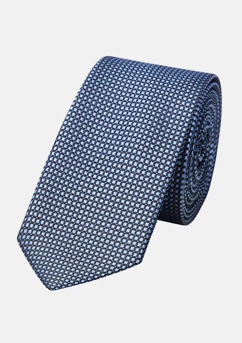 Blue Strong Textured 6.5cm Tie