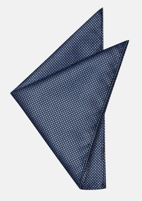 Blue Strong Textured Pocket Square