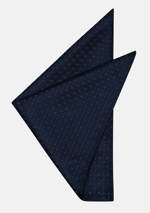 Navy/pink Harrison Pocket Square