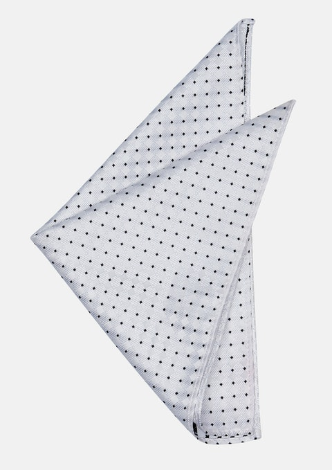 White Mayfair Pocket Square